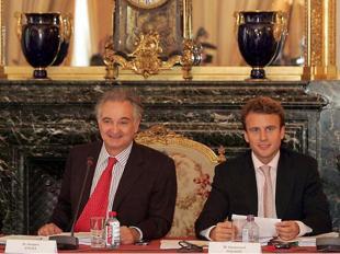 Attali con Macron nel 2007