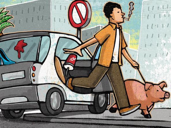 Illustrazione di Alberto Ruggieri per il Corriere della Sera