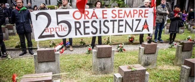 Il presidio antifascista al Cimitero Maggiore di Milano