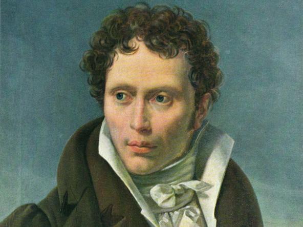 Arthur Schopenhauer ritratto da Ludwig Sigismund Ruhl nel 1815