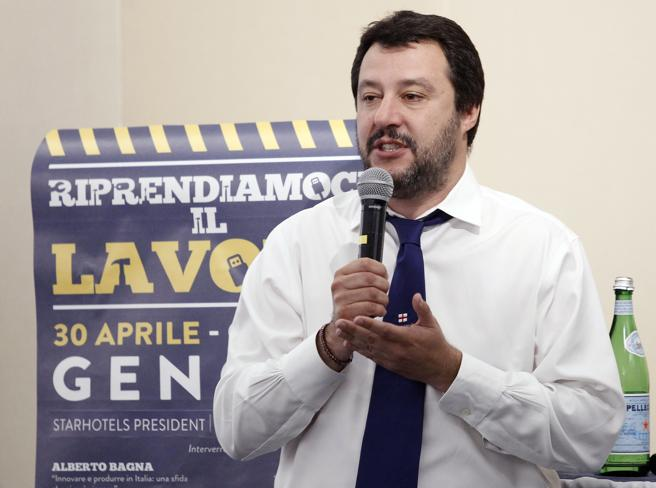 Salvini: «Alfano?È  stato ministro  all'invasione clandestina»