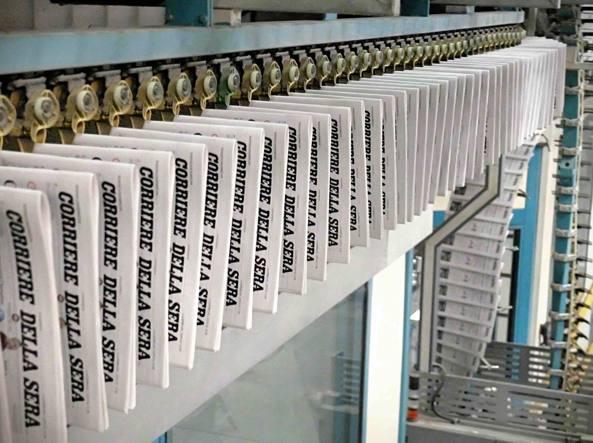 La stamperia Rcs di Pessano con Bornago (Milano) dove si stampa il «Corriere della Sera» (Foto Fotogramma)