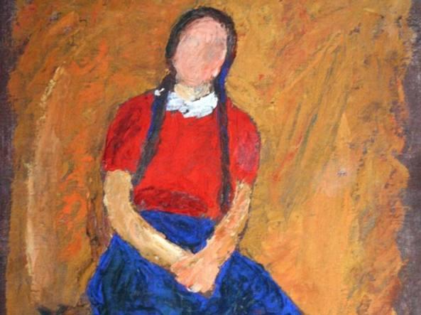 «Le trecce di Elena», uno dei dipinti giovanili realizzati da Lorenzo Milani tra il 1941 e il 1943. Ai lavori del futuro Don Milani era stata dedicata nel 2014 una mostra al Museo Diocesano di Milano