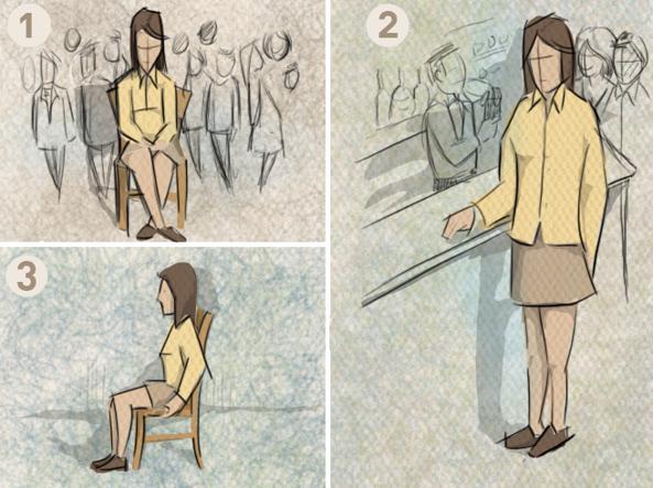 Tecniche di rilassamento (illustrazione di Antonio Delluzio)