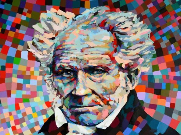 Rudolf Rox (1965), «Schopenhauer» (2016, courtesy dell'artista)