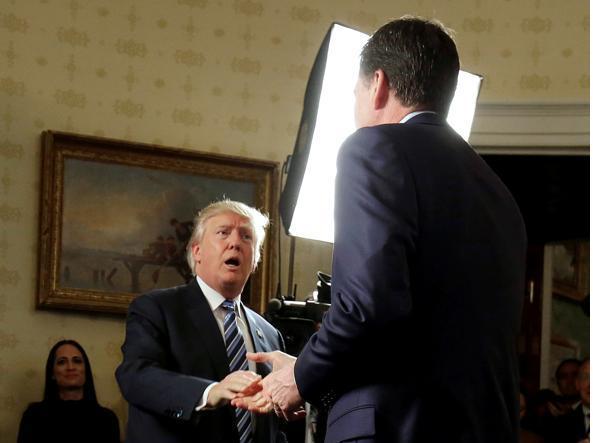 Donald Trump con James Comey, ex capo dell'Fbi