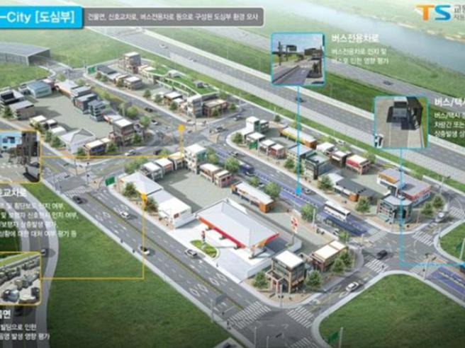 K-City, la città fantasma  per testare auto a guida autonoma