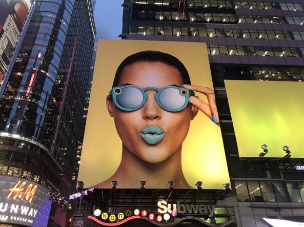 Pubblicità in Time Square