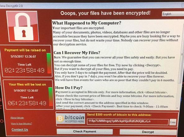 Molti ospedali inglesi sono stati colpiti da un potente attacco Ransomware