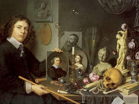 David Bailly, «Autoritratto con simboli della vanità», 1651