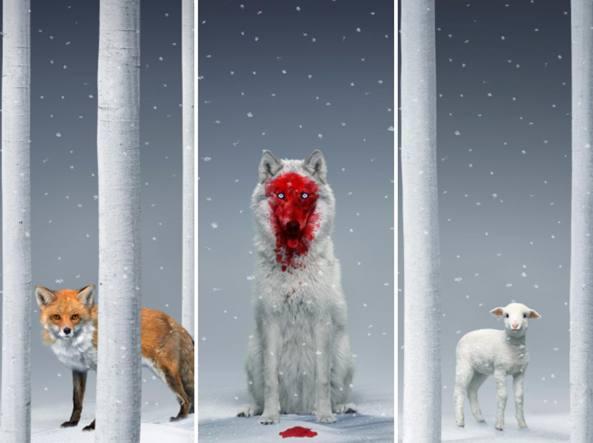 Le immagini con i tre protagonisti dell'installazione «A Winter Fable» di Robert Wilson a Villa Panza, a Varese