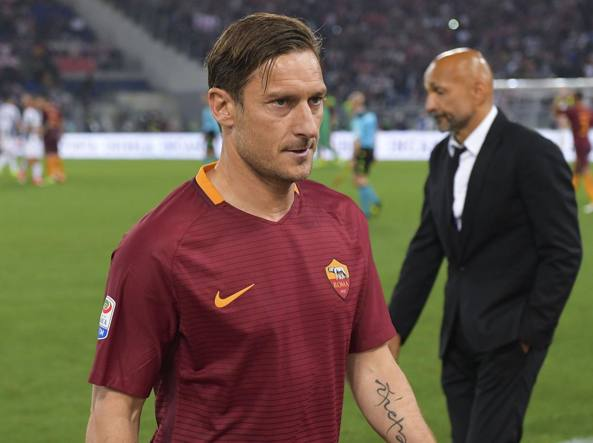 Francesco Totti e Luciano Spalletti al termine di Roma-Juventus (Getty Images/Rossi)