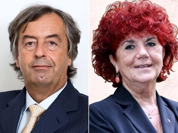 Roberto Burioni e Valeria Fedeli
