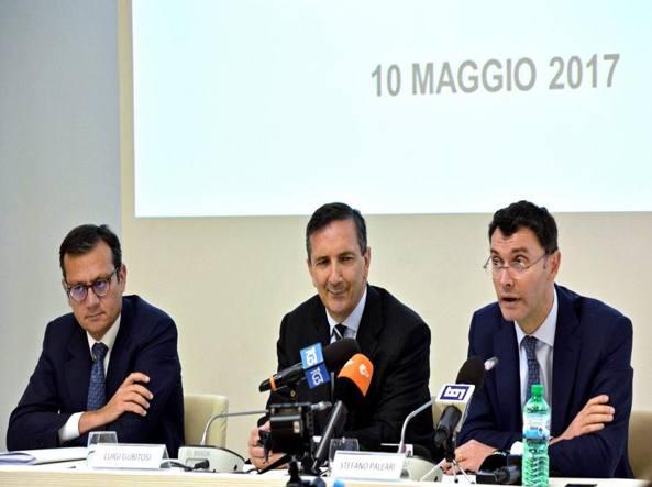 I commissari dell'Alitalia Enrico Laghi, Luigi Gubitosi e Stefano Paleari