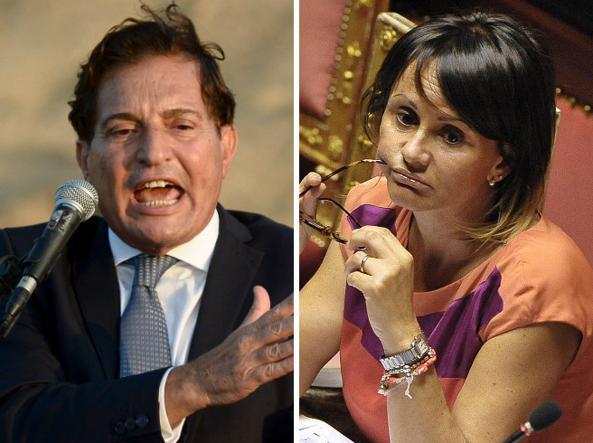 Rosario Crocetta, governatore della Regione Sicilia, e la sottosegretaria Simona Vicari