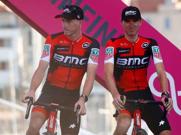 Tejay Van Garderen (a destra) con Rohan Dennis
