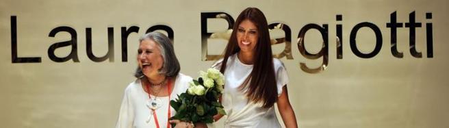 Laura Biagiotti con la figlia Lavinia