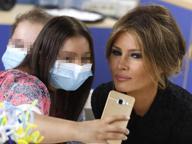 Melania Trump in visita all'ospedale pediatrico Bambino Gesù