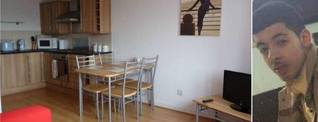 L'appartamento affittato dal terrorista: costa 75 sterline a notte