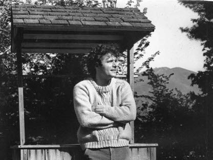 Denis Johnson  ospite nel 1983 al  The Frost Place, museo e centro della poesia  a Franconia, New Hampshire (foto dal sito frostplace.org)