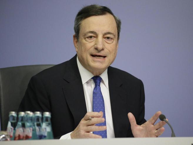 Draghi: «Ripresa sempre più solida ma ancora sostegno alla politica monetaria»