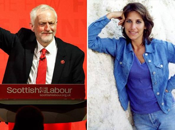 Jeremy Corbyn e l'ex moglie Claudia Bracchitta