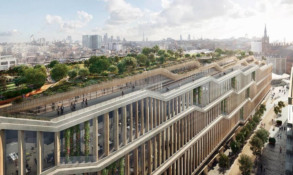 Un giardino «panoramico» sul tetto