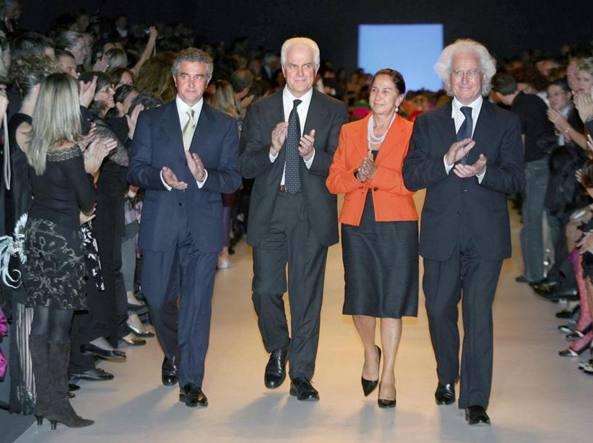 I quattro fratelli Benetton, fondatori del gruppo veneto