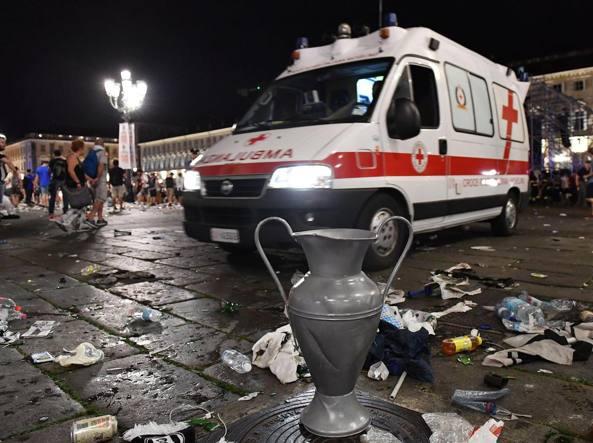 Torino, piazza San Carlo dopo il caos (Ansa)