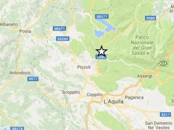 Terremoto di magnitudo 3.9 a L'Aquila