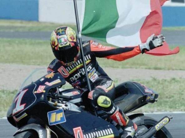 Max Biaggi. Incidente in pista al circuito Il Sagittario di Latina
