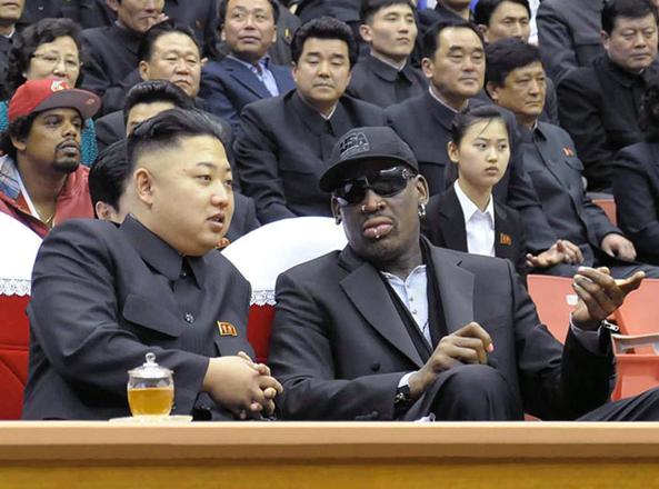 Dennis Rodman con Kim Jong Un
