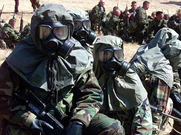 Marines durante l'addestramento (Afp)