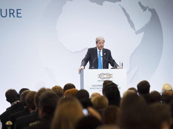 Il presidente del Consiglio paolo Gentiloni al G20 sull'Africa (Ansa)