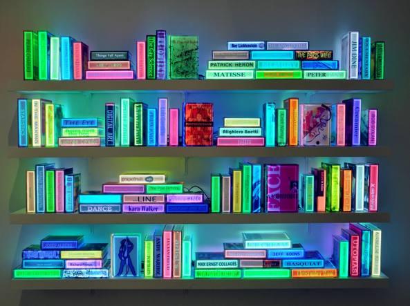 Kang Airan (Seul, 1960), Digital Book Project, opera che è stata esposta alla Bryce Wolkowitz Gallery di New York nel 2015 durante la mostra dell'artista sudcoreana intitolata The Luminous Poem