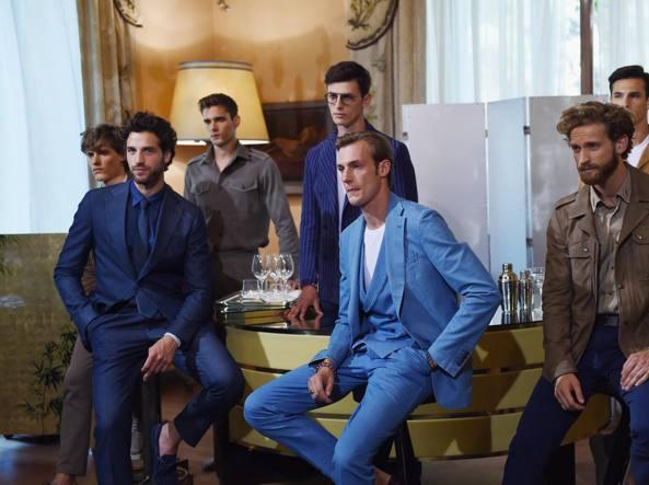 La presentazione durante la Milano fashion week a villa Necchi Campiglio (Getty)