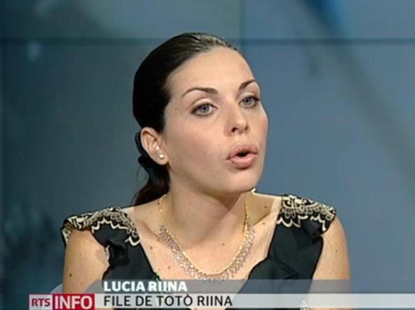 """Lucia Riina ospite della televisione svizzera, che ha pubblicato sul suo sito un video della """"prima intervista televisiva'' della donna, 27 agosto 2013 (Ansa)"""