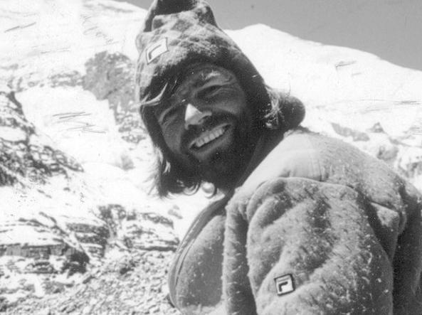 Reinhold Messner. L'alpinista, oggi 72enne, durante una delle sue ascensioni