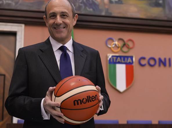 Ettore Messina, allenatore della Nazionale italiana di basket (Ciamillo e Castoria)