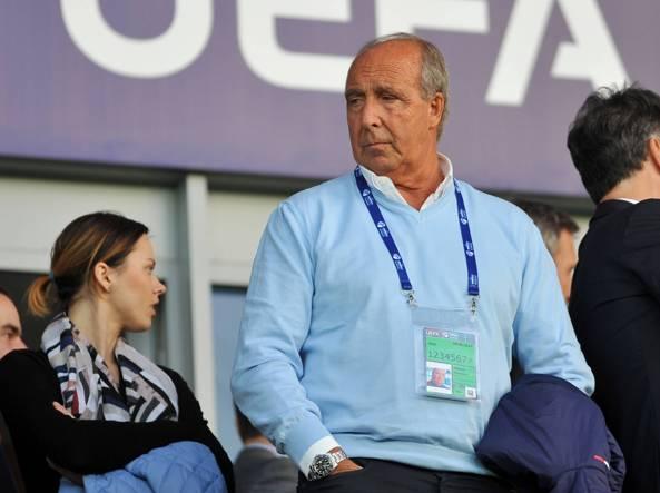 Gian Piero Ventura in tribuna a Cracovia per Danimarca-Italia (Italy Photo Press)