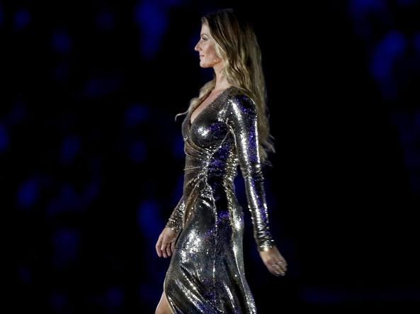 Gisele Bündchen alla cerimonia di apertura delle Olimpiadi a Rio 2016 (Getty)