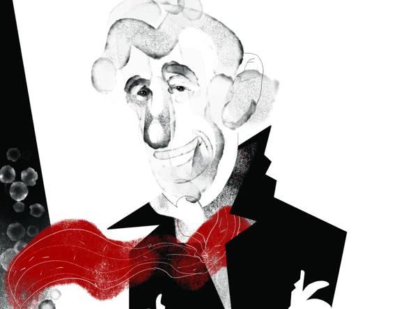 Jean-Paul Belmondo in un'illustrazione di Mario Addis per «la Lettura»