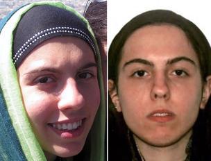 Lara con il velo e prima della conversione all'Islam