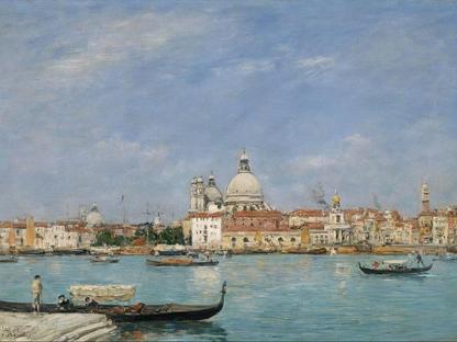 Eugène  Boudin, «Venezia, Santa Maria della Salute da San Giorgio» (1895)