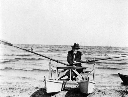Luigi Pirandello a Lido di Camaiore nel 1932