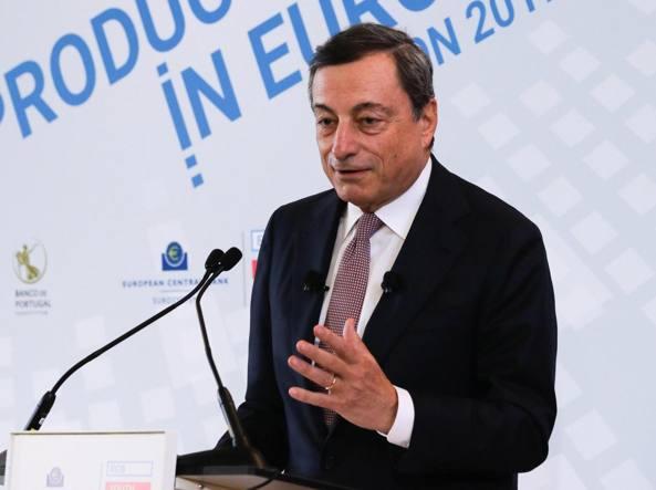 Draghi: l'economia migliora ma gli stimoli sono ancora necessari