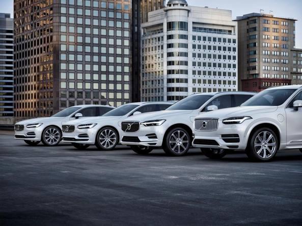 Volvo, dal 2019 tutti i modelli saranno ibridi o elettrici