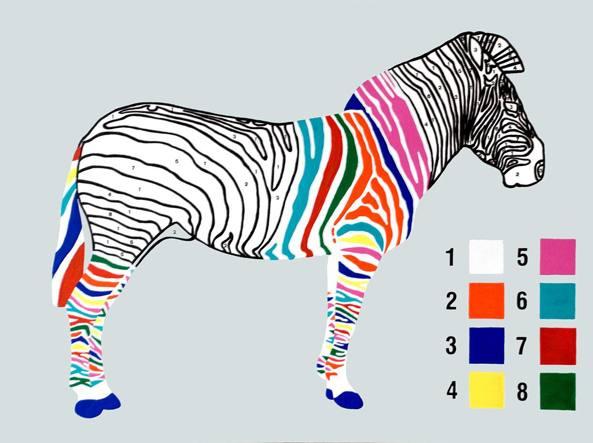 Jodie Glen-Martin (1972), «Colour by numbers» (2009, acrilico su tela), courtesy dell'artista, Saatchi Art Gallery