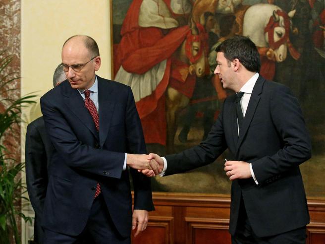 Renzi e la staffetta con  Letta: «Nessun golpe, io chiamato dal Pd a governare il Paese»
