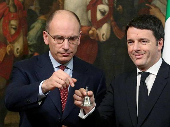 Enrico Letta e Matteo Renzi (Ansa)